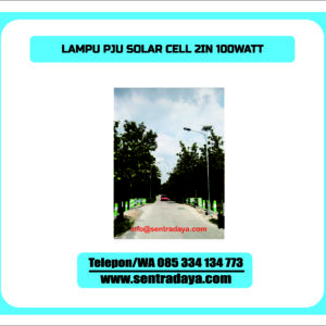 LAMPU PJU SOLARCELL 2 IN 1 100 WATT | PJU TENAGA SURYA TWO IN ONE 100WATT