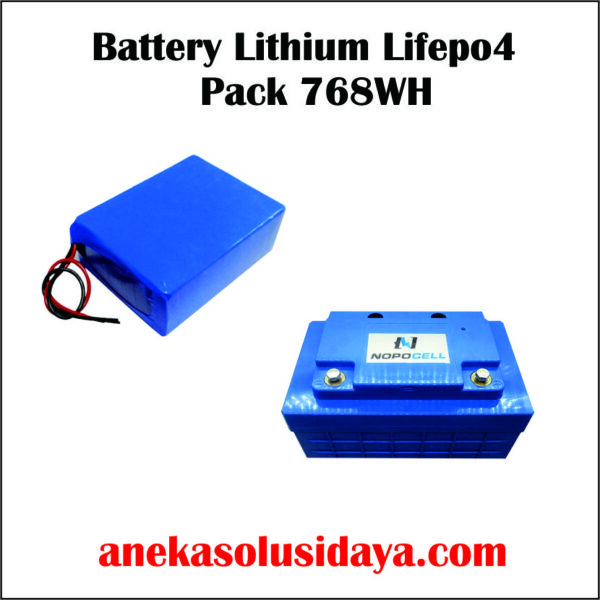 BATTERY LITHIUM LIFEPO4 PACK 768WH